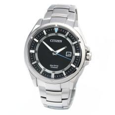 Citizen Watch ECO-DRIVE Silver Titanium Case Titanium Bracelet Mens NWT + Warranty AW1401-50E