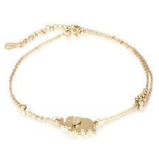... Cocotina 1 x Wanita Bergaya Berlian Buatan Gajah Pesta Santai Pesona Gelang Rantai Perhiasan Emas