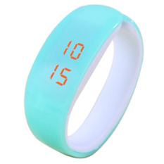 Cocotina Cute Dolphin Shaped LED Silicone Bracelet Watch For Women Girls (Light Blue) (Intl)