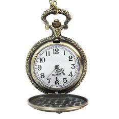 Cocotina Unisex Women Mens Vintage Bronze Tone Pandant Necklace Steampunk Quartz Pocket Watch (Intl)