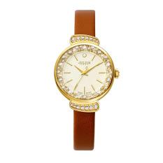 Coobonf 2016 Julius Top Brand Women Dress Watches Alloy Rhinestone Quartz-Watch Leather Wrist Watch For Girls Clock Reloj Mujer JA866