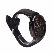 Cool Oversize Men Quartz Silicone Watch Racing Sport Army Watch Orange Mark (Intl)