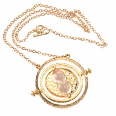 Cool Womens Girls Time Turner Rotating Hourglass Pendant Alloy Necklace