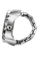 Creative Charming Flower Fashion Lady Girl Steel Round Elastic Quartz Finger Ring Watch Women (Intl)