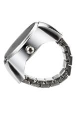 Creative Fashion Lady Girl Steel Round Elastic Quartz Finger Ring Watch Women (Intl)