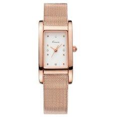 CUCOL Women Dress Watch Fashion Casual Watch Rectangle Case Analog Display Quartz Watch