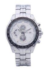 Curren 8083 Luxury Brand Stainless Steel Strap Analog Date Men's Casual Quartz Watch (White)