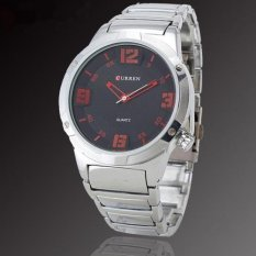 Curren 8111 Casual - Style Watch Jam Tangan Kasual - Sportif Merah