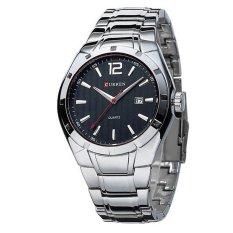 CURREN Brand 8103 Men Black Sports Watches Men Business Wrist Watches Casual Full Steel Waterproof Watches - Intl