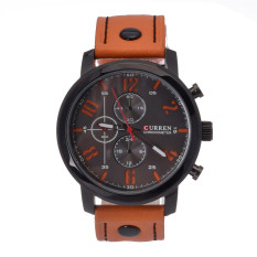 CURREN Men's Casual Fashion Quartz Analog Sport Waterproof Watch (Orange) - Intl