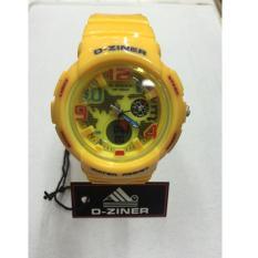 D-ziner DZ 129087 Dual Time Jam Tangan Wanita Rubber Strap