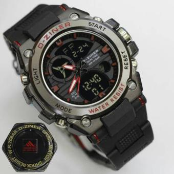 D-ziner Jam Tangan Sport Dual Time 8139 - Black Red
