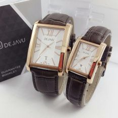 Pasir Couple Stainlees Source · Hitam Source Dejavu DJ5013 Original Watch Jam Tangan .