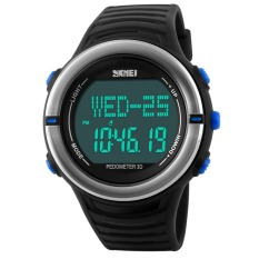 Digital Watch Fitness For Men Women Outdoor Wristwatches Sports Watches (Blue)