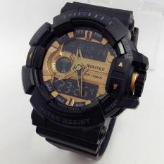 Digitec Dg2080 - Jam Tangan Sporty Pria - Jam Tangan Olahraga Design Dual Time - Limited Edition - Rubber - Black