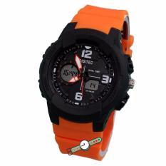 Digitec - DG2111L - Jam Tangan Wanita Dual Time - Strap Karet - Hitam Orange