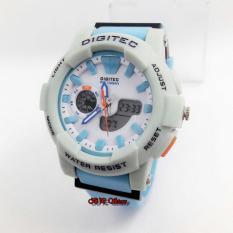 Digitec Dg8766 Dual Time Jam Tangan Pria Rubber Strap Merah Hitam. Source · Digitec Dual