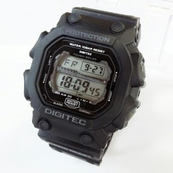 Digitec Jam tangan Pria digital Tipe DG-2012T Original Hitam Layar Grey
