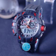 Digitec Jam Tangan Pria Triple Time DG 3042 T Water Resist Original - Hitam List Merah