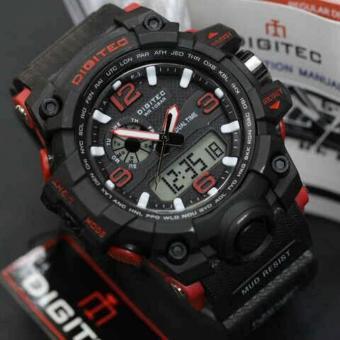 Digitec Jam Tangan Sport Dual Time DG2093T - Hitam Merah