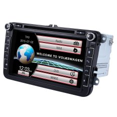 DK801.8 Inch WCE Universal Double Din Car DVD Player GPS Navigation Universal In-dash Auto Radio Audio Stereo (BLACK)