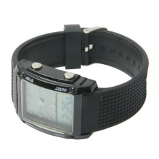 Dual LCD Display Colorful LED Digital Watch / Utility Chronograph Sport Watch (Black)