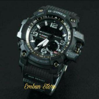 Dziner Dual Time - Jam Tangan Pria - Rubber Strap - DZ 8143 ES