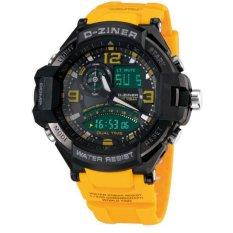 Dziner Dual Time - Jam Tangan Sport Pria - Rubber Strap - Dz-8065 Bri