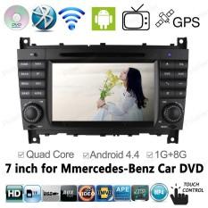 Eaglerich 4 Core Android 4.4 1024*600 GPS Audio Car DVD PC Radio For Mercedes Benz C CLK CLS CLC W203 W209 W219 C180 C200 C220 C230 - Intl