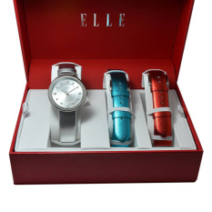 Elle Jam Tangan Wanita Multicolour Leather Strap EL20344S09C
