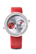 Elle Time EL20038S30N - Jam Tangan Wanita - Pattern Leather Strap - Merah