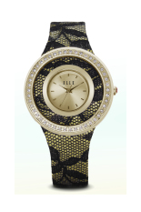 Elle Time EL20265S02N Gold Lace Leather Strap Woman Watches