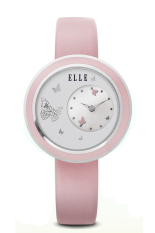 Elle Time EL20278S03C - Jam Tangan Wanita - Leather Strap - Pink