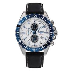 Elysee Male Watches Hot Lane Jam Tangan Pria - Putih - Strap Leather Strap - 80511L