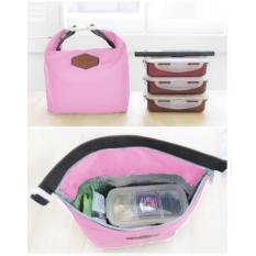 Emyli Iconic insulated lunch bag Thermal Tas Bekal Makan Tahan Panas Dingin - PINK