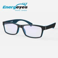 ENERGEYES Kacamata Komputer Anti Radiasi Anti Lelah Melindungi Mata & Mengurangi Blue Light sampai 50% Dewasa warna depan Hitam Matte belakang Biru - intl