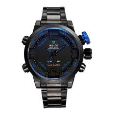 EPOZZ Brand Men Military Quartz Full Steel Wrist Watch Big Black Luminous Digital LED Full Steel Relogio Masculino 2309