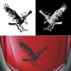 ERA Eagle Pattern Reflective Material Car Stickers Car Engine Hood Decal Emblem White
