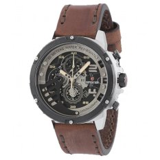 Expedition 6700MC - Black Silver - Leather - Jam Tangan Pria