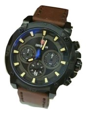 Expedition Jam Tangan Pria - Jam 6606 Darkbrown Strap - Hitam