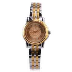 Eyki Business Watches For Women Quartz Sapphire Face Full Steel Band Lady Watch-EELS8783LS-W Gold + Silver