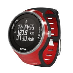 EZON GPS Smart Bluetooth 4.0 Outdoor Sports Fitness Jogging Running Digital Watch 5ATM Water Resistant Economical Rechargeable Unisex Wristwatch For Apple IOS For Android