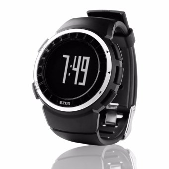 EZON T029 Men's Digital Watches Sports Outdoor Wristwatch with Pedometer Calorie Counter Waterproof Wristwatch for Men and Women Black Color - intl