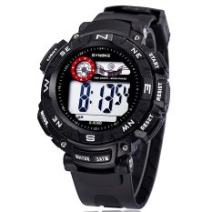 Famous Brand Synoke Men Sports Watches Waterproof LED Digital Water Proof Watch Ss89068 White