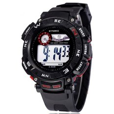 Famous Brand Synoke Men Sports Watches Waterproof LED Digital Water Proof Watch Ss89068_Red