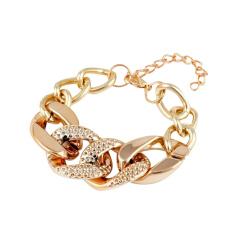 Fang Fang Fashion Cheap Plated Alloy Chain Chunky Bracelets Bangles Women Bracelet (Gold)