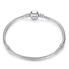 Fashion 925 Silver Snake Chain Bracelets & Bangles Womens Fine Jewelry LB470 Silver