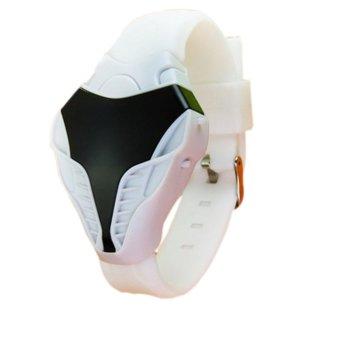 Fashion Adapula Ular Kepala Berbentuk Memimpin Jam Elektronik Digital (Putih)