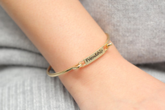 Fashion Alloy Friendship Bracelets For Women Best Gift Friendship Bracelets-Golden
