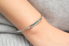 Fashion Alloy Friendship Bracelets For Women Best Gift Friendship Bracelets-Silver